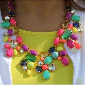 J Crew Color Mix Statement Necklace Candy